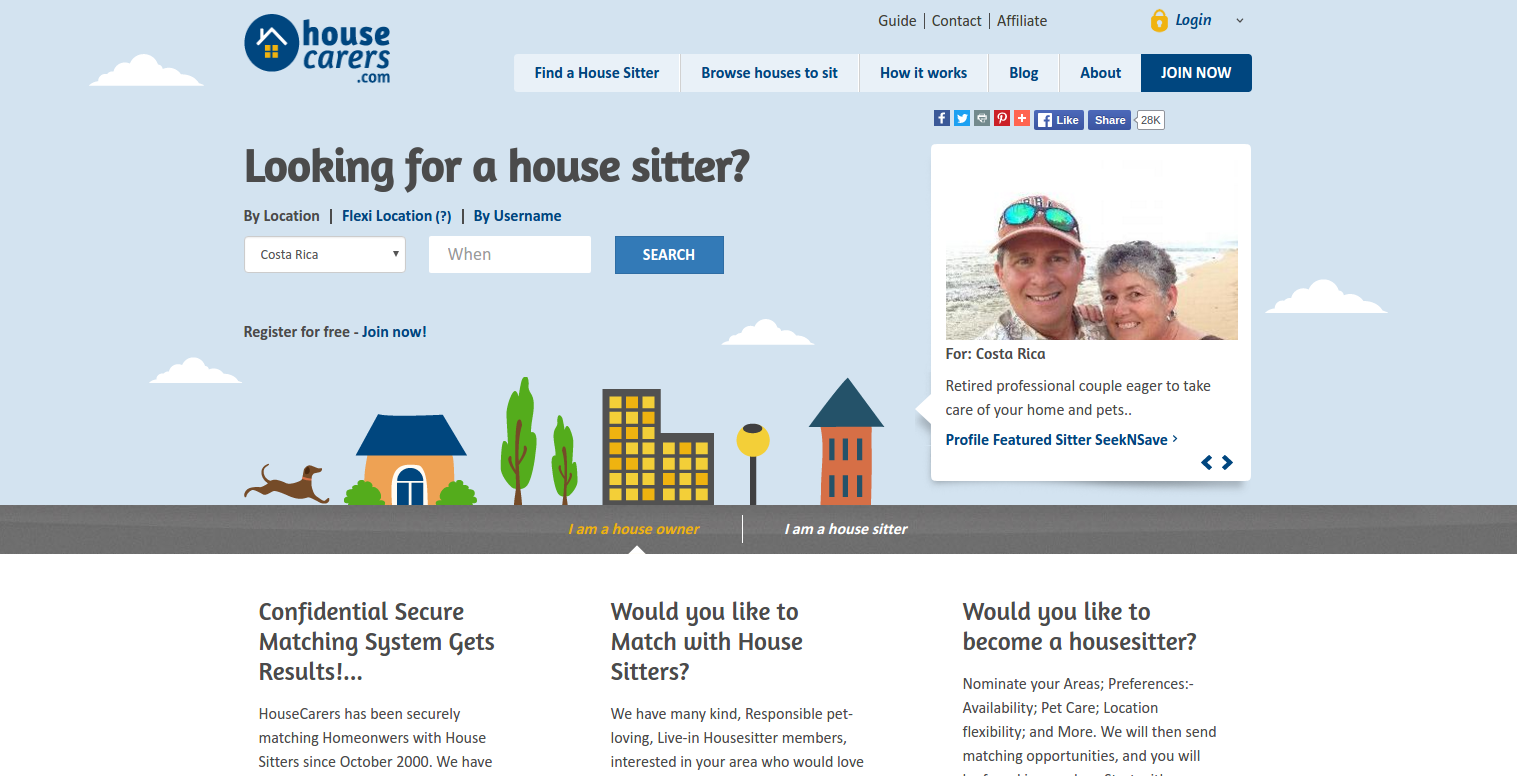 Housecarers homepage