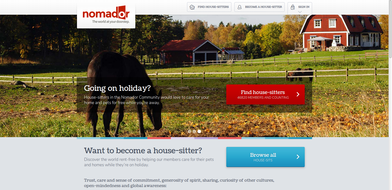 Nomador Homepage